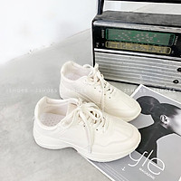 Giày Sục Nữ Trơn Hàng Loại Xịn Đế Độn Nâu Hot trend 2021