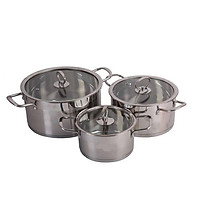 Bộ nồi Inox sử dụng cho bếp từ, bếp điện, hồng ngoại  -  Bộ nồi bếp từ cao cấp