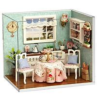 Mô Hình Nhà Búp bê DIY - Happy Kitchen H009 ( kèm keo + Mica )