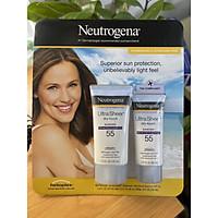 Set kem chống nắng Neutrogena Ultra Sheer Sunscreen SPF 55