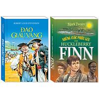 Combo Đảo giấu vàng (bìa mềm) , Những cuộc phiêu lưu của Huckleberry Finn (bìa mềm)