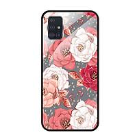 Ốp lưng Kính Cường Lực cho Samsung Galaxy A51 - 0331 ROSE04 - Hàng Chính Hãng