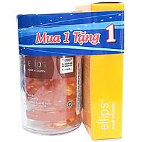 Hũ ELLIPS Vitamin Dưỡng Tóc - Sức Sống Mới (Hũ 50 Viên) + Hộp Ellips Vitamin Dưỡng Tóc Óng Mượt (Hộp 12s)