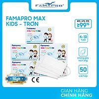 [HỘP - FAMAPRO MAX KID] - khẩu trang y tế trẻ em kháng khuẩn 3 lớp Famapro Max Kid (50 cái/ hộp) - COMBO 5 HỘP