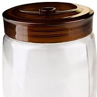 Lilac 1.5L automatic exhaust glass fruit enzyme bottle storage tank SG9715 (color random delivery)