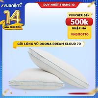 Gối lông vũ tự nhiên cao cấp Doona Dream Cloud - Gối nằm siêu êm ái, kháng khuẩn, chống đau vai gáy - Chuẩn khách sạn 5 sao