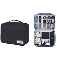 Túi đựng phụ kiện công nghệ, cáp sạc pin dự phòng, mỹ phẩm chống sốc chống thấm đi du lịch
