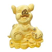 Heo Vàng Phát phủ vàng 24K quà tặng mỹ nghệ KBP DOJI DJP004S