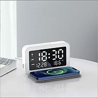 Đồng hồ để bàn điện tử tích hợp sạc không dây 3-B4-L1-657
