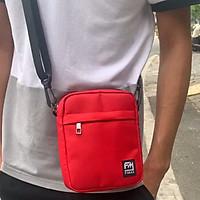 Túi đeo mini unisex cá tính Fimax cho nam nữ, túi đeo chéo nhỏ gọn với kích thước 17x15x5cm làm từ vải chống nước dùng đựng điện thoại và phụ kiện cá nhân khi đi chơi dự tiệc