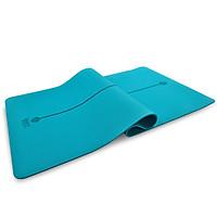 Authentic yoga mat TPE environmental protection 183*80cm widened media line fitness mat (gift strap + net bag) unisex 8mm thickened long non-slip sports mat elegant purple