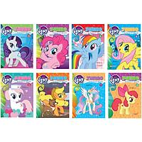 ComBo 8 Cuốn: Bộ My Little Pony-Jumbo Tô Màu Và Các Trò Chơi (Có Đề Can Dán)