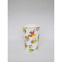Ly giấy 14oz in hình Fruit (360ml) 2PE lốc 50 cái (không nắp)