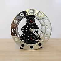 Đồng hồ đặt bàn bánh răng màu bạc