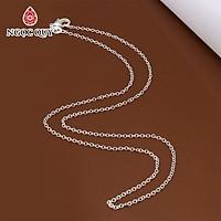 Dây chuyền cổ nữ hợp kim màu bạc - Ngọc Quý Gemstones