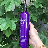 Dầu Gội Tigi Bed Head Dumb Blonde Purple Toning Shampoo Tím Khử Ánh Vàng Cho Tóc Bạch Kim Mỹ 400ml