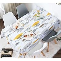 Khăn trải bàn chống thấm nước họa tiết lá vàng KB34(140x180cm)