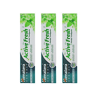 Ba tuýp kem đánh răng bảo vệ nướu giúp hơi thở thơm mát - Himalaya Active Fresh Herbal Toothpaste 100g