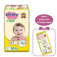 Tã Quần Siêu Mỏng UniDry Ultrathin Gói Đại size XL48 (48 miếng) - Tặng 1 Gói Khăn Ướt UniFresh VitaminE 80M