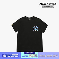 MLB - Áo thun cổ tròn ngắn tay PLAY Pixel Logo 31TSN2131-50L