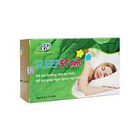 Dưỡng tâm an thần Sleep Star - Thảo dược thiên nhiên cho giấc ngủ tự nhiên, ngủ sâu giấc. Giảm hồi hộp, cải thiện tình trạng mất ngủ kinh niên. Hộp 50 viên. SP được Sở Y Tế chứng nhận.