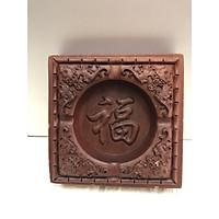 gạt tàn thuốc lá bàng gỗ hương đk 12,5cn ,cao 4cm