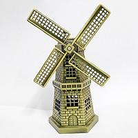 Mô hình cối xay gió Hợp kim màu Vàng đồng