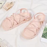 Giày sandal nữ đi mưa đế bánh mỳ siêu bền V256