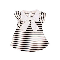 0-18M Baby Girl Dress Girl Summer Cotton Striped Bow Dress Infant Clothing 1 Year Birthday Dress for Kids