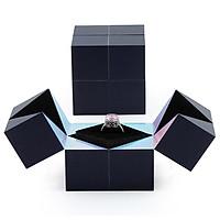 Wedding Cube Ring Box Jewelry Storage Box Organizer Ring Wedding Gift Box