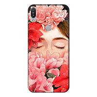 Ốp lưng điện thoại Asus Zenfone Max Pro M1 hình Cô Gái Hoa Hồng