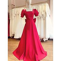 Đầm maxi dự tiệc mặc cưới hở nơ lưng TRIPBLE T DRESS - size M/L (kèm ảnh/video thật) MS114Y