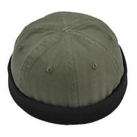 Men Retro Docker Leon Beanie Cap Pure Cotton Hat Navy Watch Cap Mechanic Hat
