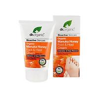 Kem dưỡng chân cấp ẩm và phục hồi tổn thương chân Dr.Organic Manuka Honey Foot & Heel - 125ml (Bill Anh)