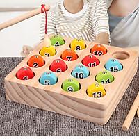 Đồ chơi câu cá học số đếm cho bé, đồ chơi giáo dục Montessori