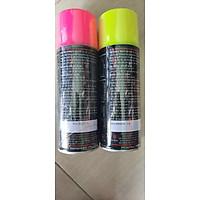 Sơn xịt phản quang màu xanh lá, cam, hồng.F3, F6
