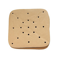 200pcs Heat Resistant Air Frying Pan Paper Nonstick Air Fryer Liners 8.5 Inch Square Oil Paper for Air Fryer Pans Bamboo