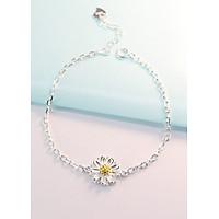 Lắc tay bạc nữ đẹp cúc họa mi LTN0110