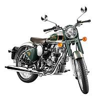Xe Motor Royal Enfield Classic 500 EFI - Chrome xanh
