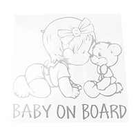 """""""BABY ON BOARD"""" with Teddy Bear Sign Vinyl Decal Sticker for Car Truck"""