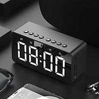 Loa Bluetooth mặt gương công nghệ Bluetooth 4.2,kiêm đồng hồ, có khe cắm thẻ nhớ - màu sắc giao ngẫu nhiên