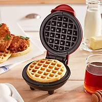 Máy làm bánh waffle DASH Mini Maker waffle hình tròn màu đỏ tiện lợi
