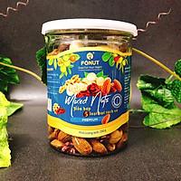 Hỗn hợp Mixed Nuts 5 loại hạt tách vỏ Fonut Hũ 250g ( hạt óc chó đỏ / Vàng, hạnh nhân,mắc ca,điều)
