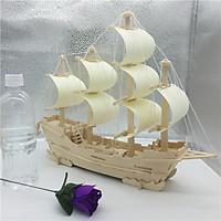 Đồ chơi lắp ráp gỗ 3D Mô hình Thuyền Thương gia G-C023