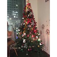 Cây Thông Noel 1,8m tặng kèm 1 bộ phụ kiên đầy đủ (~120 phụ kiện) mẫu 2019 - 3 khúc lắp ghép