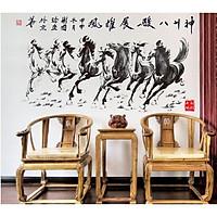 Decal dán tường Bát Mã Truy Phong Mã Đáo Thành Công AY230