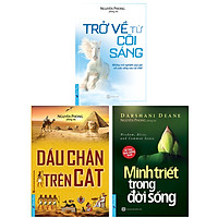 Combo 3 Cuốn Sách: Trở Về Từ Cõi Sáng + Minh Triết Trong Đời Sống  + Dấu Chân Trên Cát (Tái Bản)
