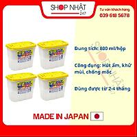 Combo 4 hộp hút ẩm 800ml nội địa Nhật Bản
