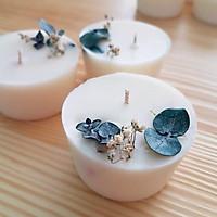 Bộ 3 nến lá bạc và hoa sao trắng – quà tặng đặc biệt