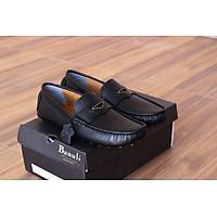 Giày lười, phong cách giày mọi, giày nam K1ML1T0 da bò Banglades, chính hãng Banuli